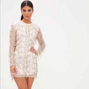 🌟BNWT- Freyana Rose Gold Sequin Long Sleeve Dress